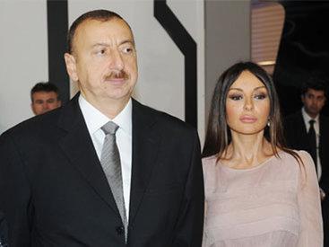 İlham Əliyev və xanımı Mehriban Əliyeva