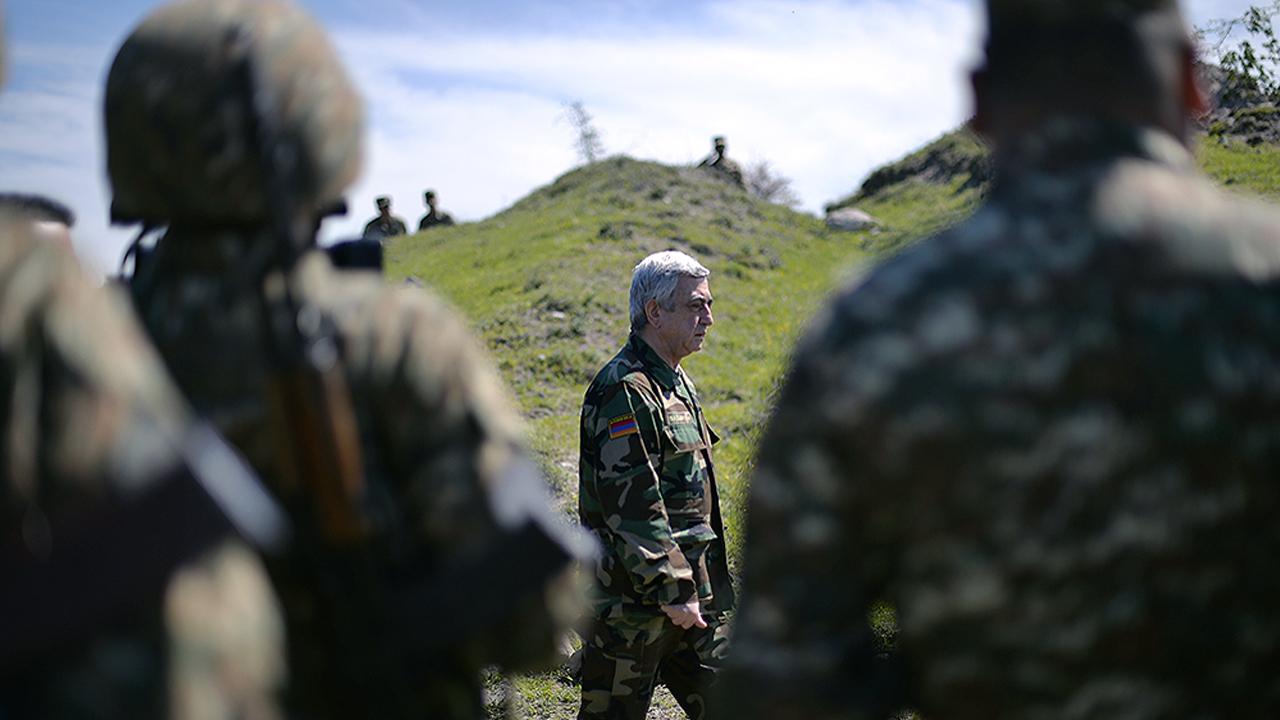 Ermənistan Respublikasının prezidenti Serj Sarkisyan Dağlıq Qarabağda