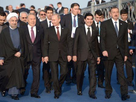 Президент РФ В.Путин принял участие в работе Каспийского саммита в Астрахани