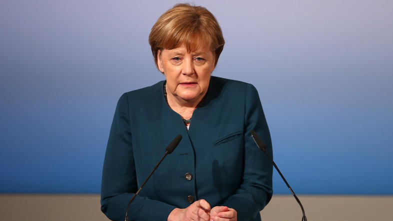 German Chancellor Angela Merkel delivers her speech during the 53rd Munich Security Conference in Munich, Germany, February 18, 2017.   REUTERS/Michael Dalder  - RTSZ8GF