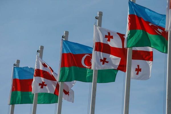 Gürcü Azərbaycan flag