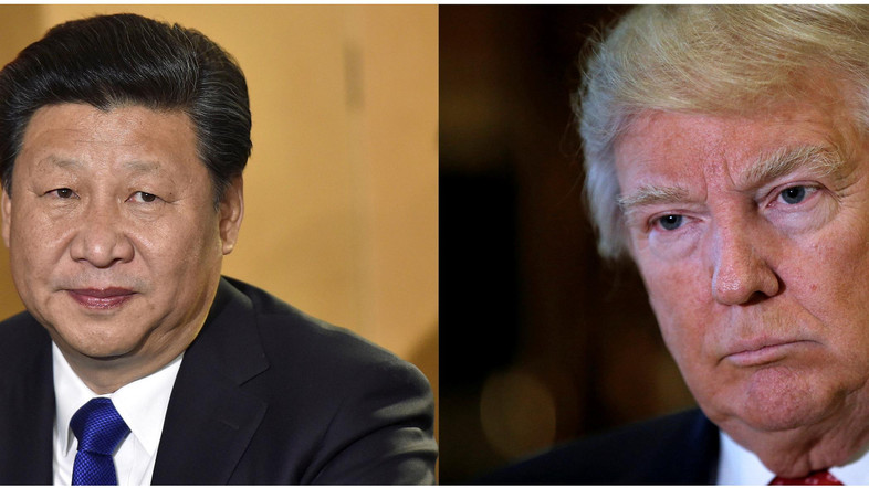 A combination of file photos showing Chinese President Xi Jinping (L) in London's Heathrow Airport, October 19, 2015 and (R) U.S. President Donald Trump listening to questions from reporters in New York, U.S., January 9, 2017. REUTERS/Toby Melville/Mike Segar/File Photos     TPX IMAGES OF THE DAY