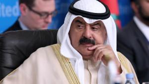 Kuwait's foreign ministry undersecretary Khaled al-Jarallah, attends the