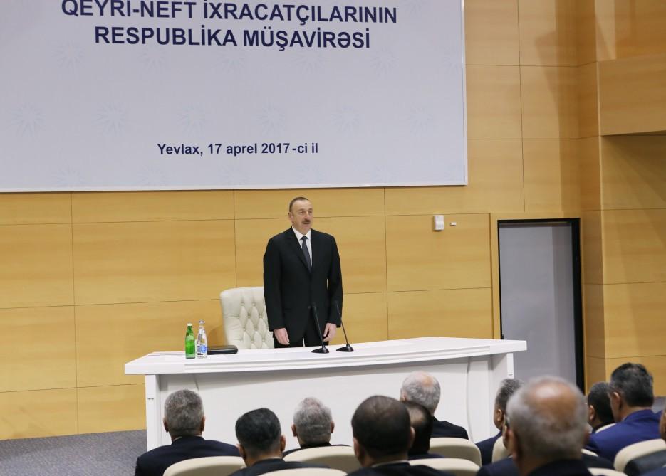 """İlham Əliyev: """"İxracımızın böyük hissəsi hələ ki, neft və qazla bağlıdır"""""""