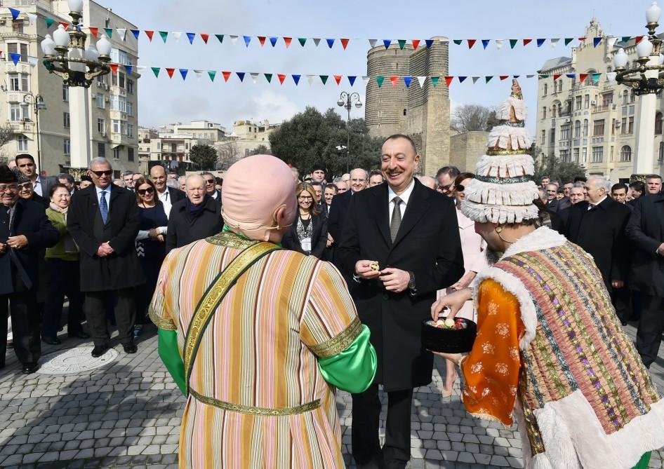 Prezident İlham Əliyev Novruz  şənliyində iştirak edib –