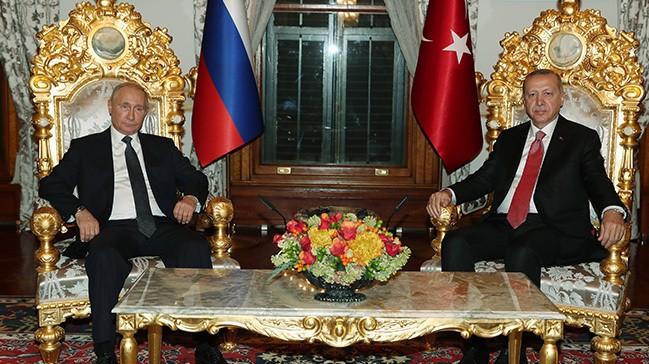 Ərdoğanla Putin görüşüb - Yıldız sarayında