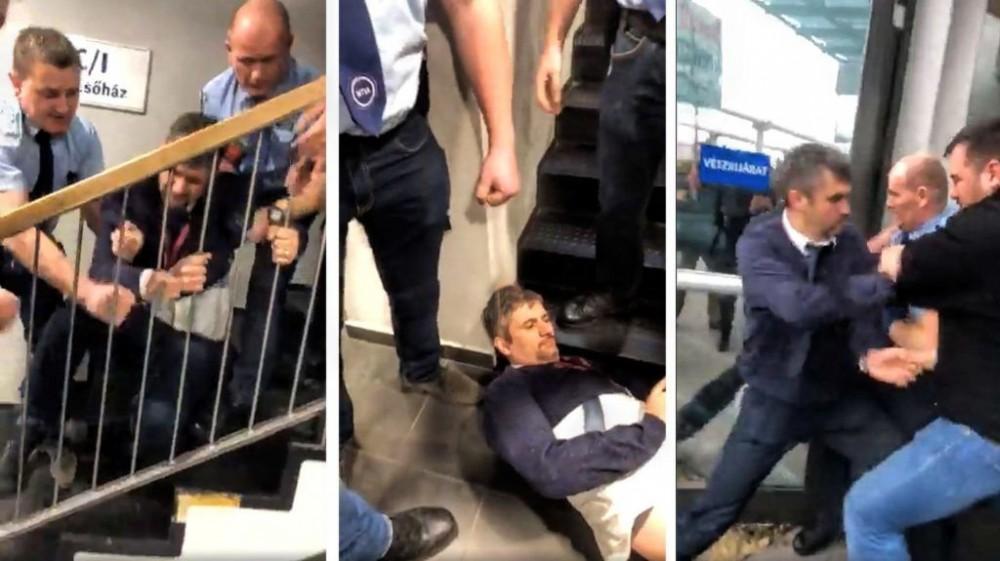 Macarıstanın iki deputatı ölkənin dövlət televiziyasının binasından zorla çıxarılıb- FOTO