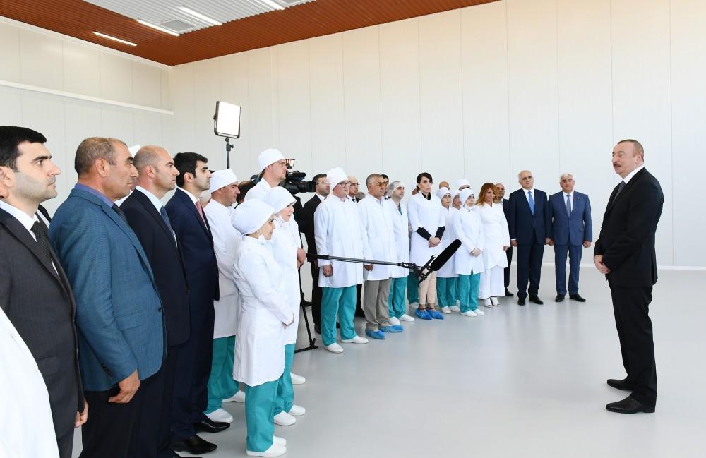 Prezident İlham Əliyev zavod açılışında: