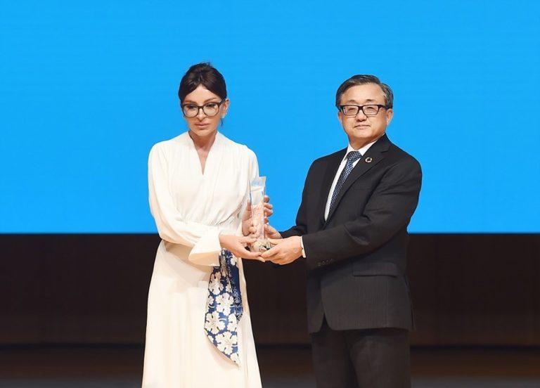 Mehriban Əliyevaya BMT-nin xüsusi mükafatı təqdim olundu