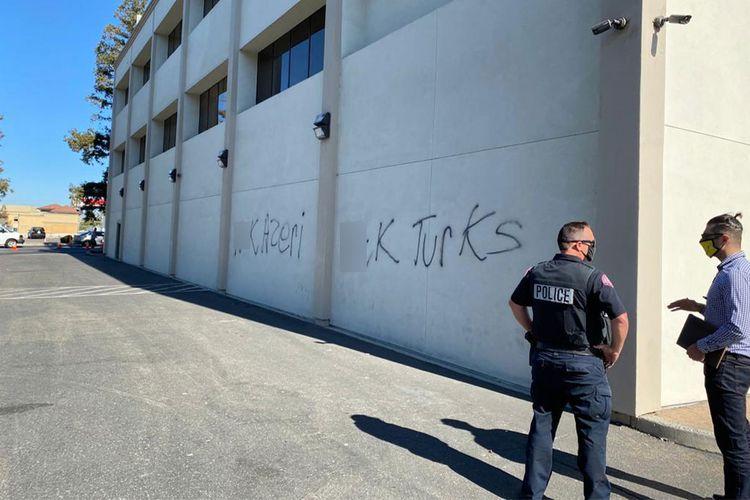 Ermənilər Kaliforniyada azərbaycanlılara qarşı vandalizm aktı törədib