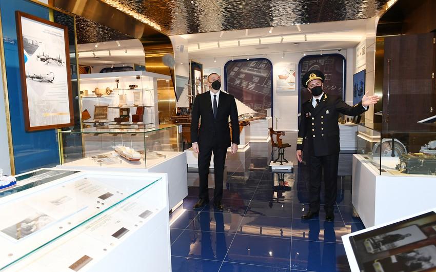 Prezident İlham Əliyev Xəzər Dəniz Gəmiçiliyinin yeni inzibati binasının açılışını edib –
