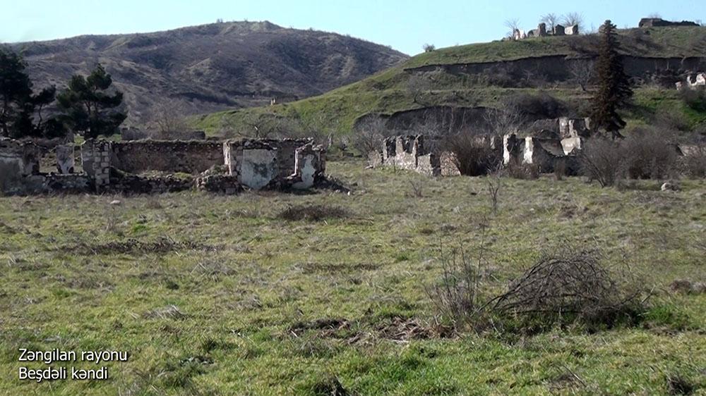 Zəngilanın Beşdəli kəndindən görüntülər yayıldı –