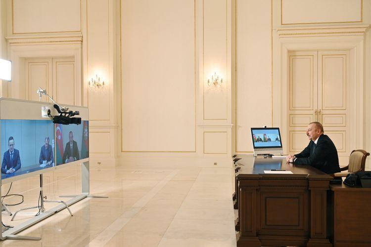 Prezident İlham Əliyev Macarıstanın xarici işlər və ticarət nazirini videoformatda qəbul edib –